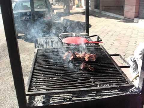 BBQ'ing lamb, El Jem (Djem), Tunisia