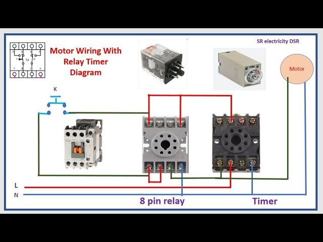 Timer Switch Control Start And Stop By Relay Timer Youtube