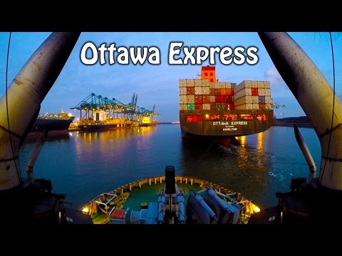 7200hp tugboat - Ottawa Express  - RAW Footage