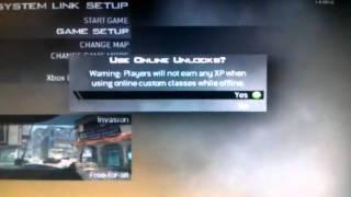 XBOX 360 Jtag Call Of Duty Modern Warfare 2 Mod/hack 10th prestige  lobby!!!