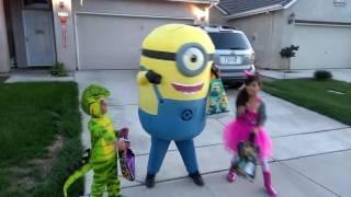 My Son's Minion Costume, Happy Halloween