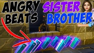 Angry SISTER Loses 1000 MALACHITE! *Gone Crazy* (Scammer Gets Scammed) Fortnite Save The World