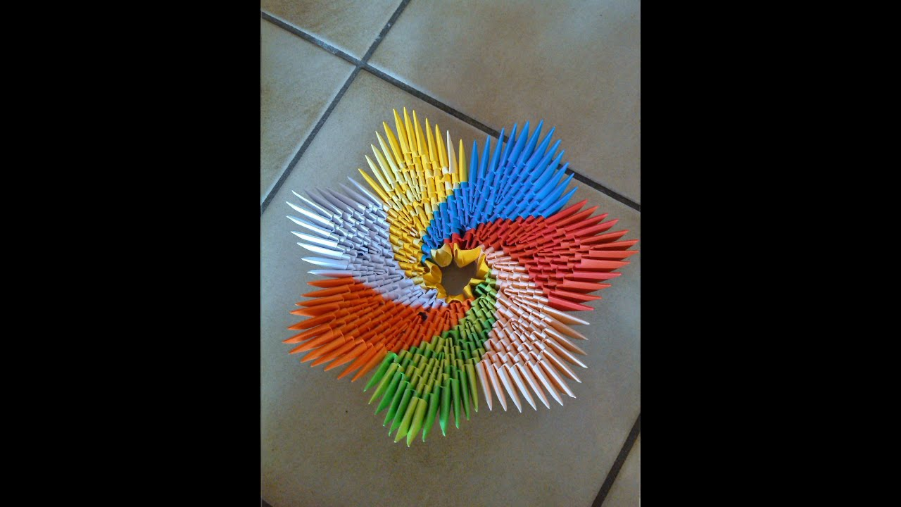 How to make a 3d origami spiral bowl youtube how to make a 3d origami spiral bowl jeuxipadfo Images