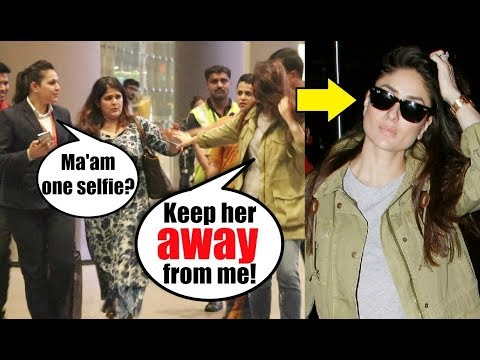 Kareena Kapoor RUDE Behaviour With A  At Mumbai Airport