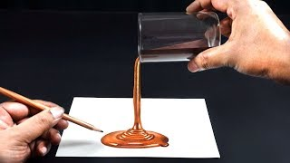 How to Draw 3D Chocolate Illusion - Easy | Trick Art Drawing on Paper