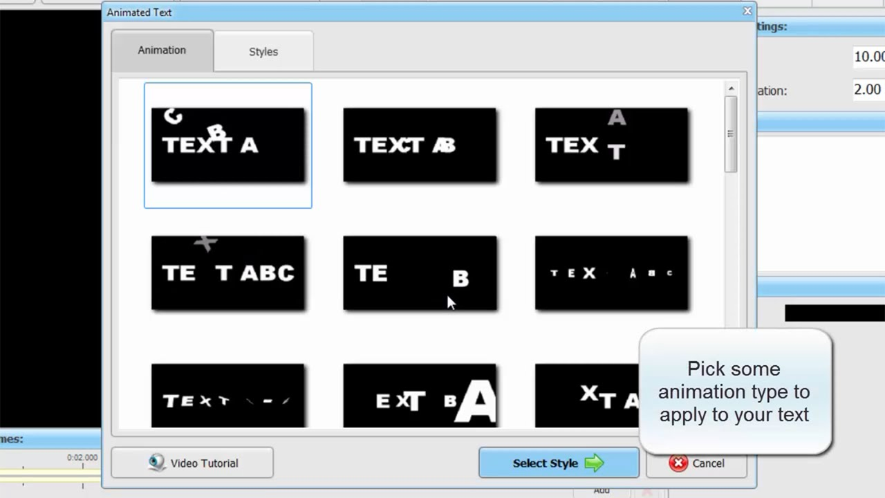 Working with Animated Text in SmartSHOW 3D