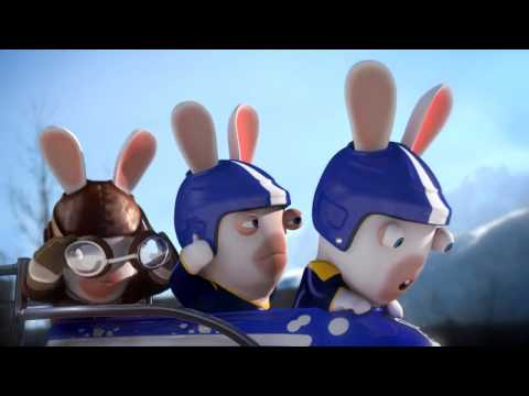 Rabbids funny olympic bobsleigh video hd