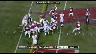 College Football Alabama Crimson Tide Vs The Arkansas Razorbacks