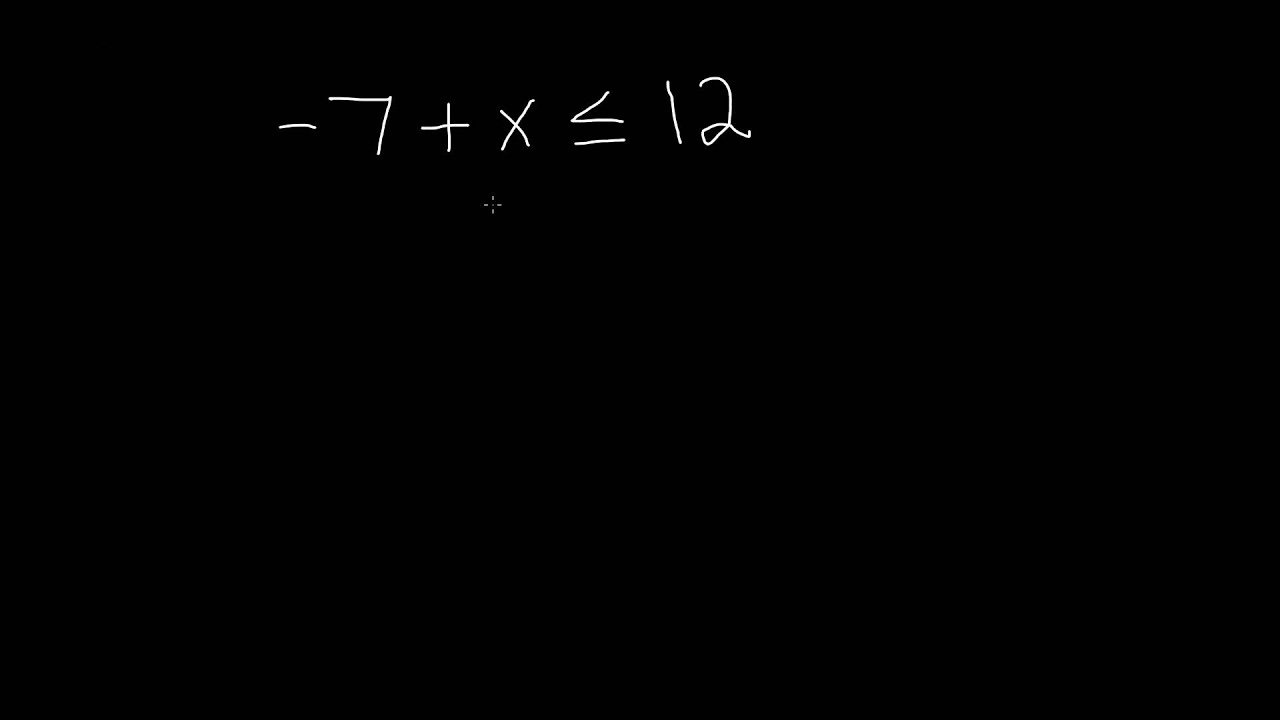 medium resolution of 7th Grade Math- Solving Inequalities involving Addition and Subtraction -  YouTube