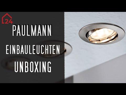 Paulmann Led Einbauleuchte Boden Set Youtube