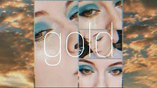 Макияж глаз палеткой Jeffree Star CONSPIRACY Небо и золото