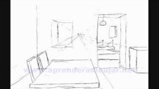 dessin maison chambre perspective interieur dibujar casa une como dentro dessiner 3d casas dibujos comment piece perspectiva fuga facile dos