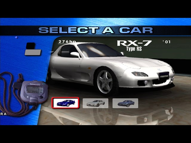 Sega GT 2002: All Cars in Arcade Mode (at start) & My Garage [HD]