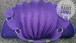 CROCHET || Merajut Tas Kerang - How To Crochet Shell Bag Part 1