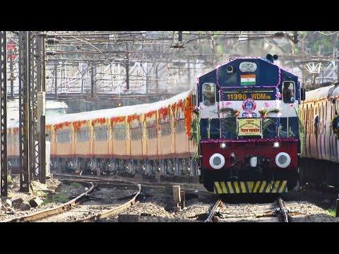 India's Semi High Speed Train | TEJAS EXPRESS Inaugural Run - Indian Railways !!