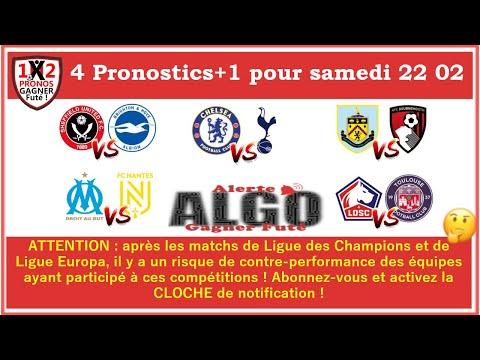 5 Pronostics Alerte ALGO Gagner Futé De FRED Tipster Gagner Futé Pour Le Samedi 22 02