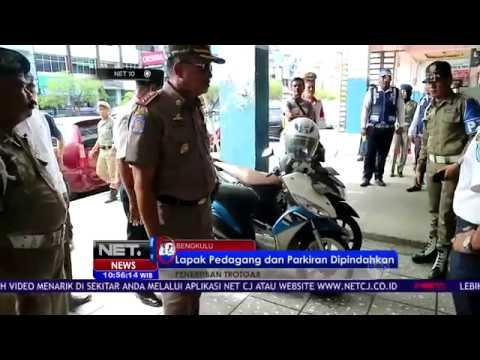Penertiban Trotoar Kota Bengkulu, Lapak Pedagang dan Parkiran Dipindahkan - NET10