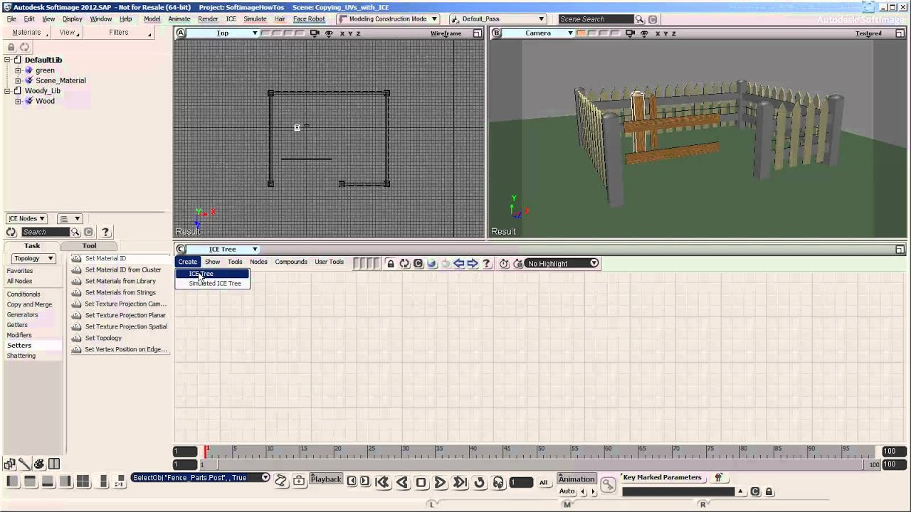 Copying UVs with ICE - Part 1 - Softimage Tutorial - General