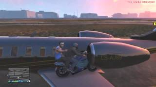 gta 5 online funny moments gameplay motorcycle jet garage party running glitch basball wapow