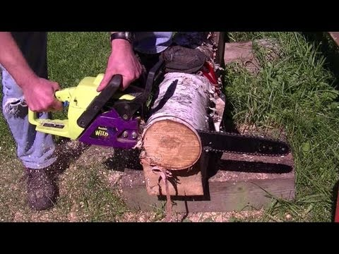 How to start a poulan chainsaw video