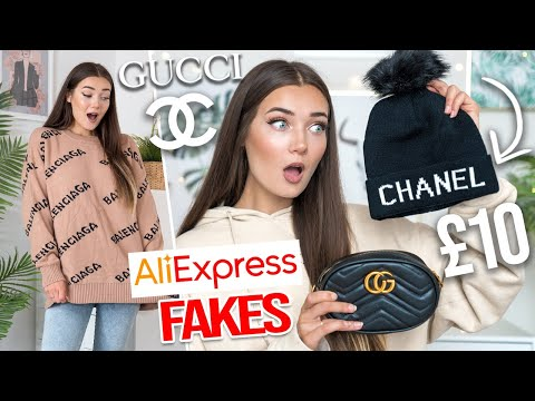 I BOUGHT FAKE DESIGNER ITEMS ON ALIEXPRESS... I DID NOT EXPECT THIS!