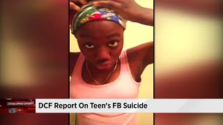 DCF report on teen's suicide released