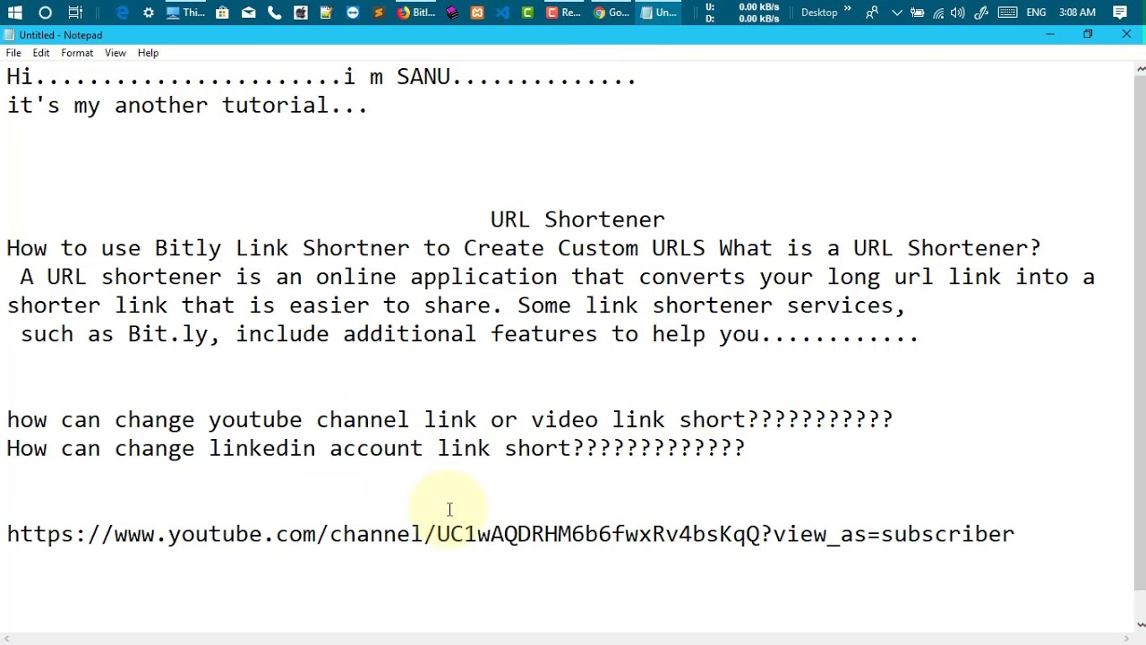 How to use Bitly Link Shortener to Create Custom URLS - YouTube