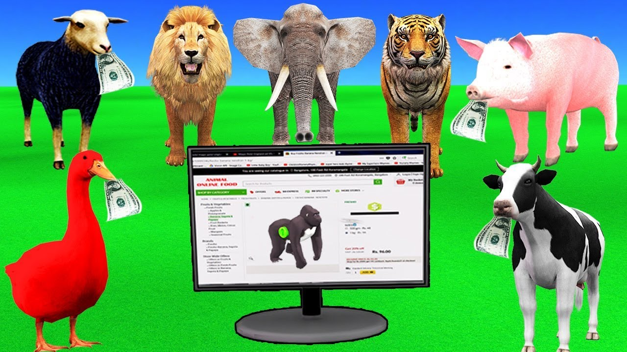 Learn Farm Animals with Online Shopping For kids