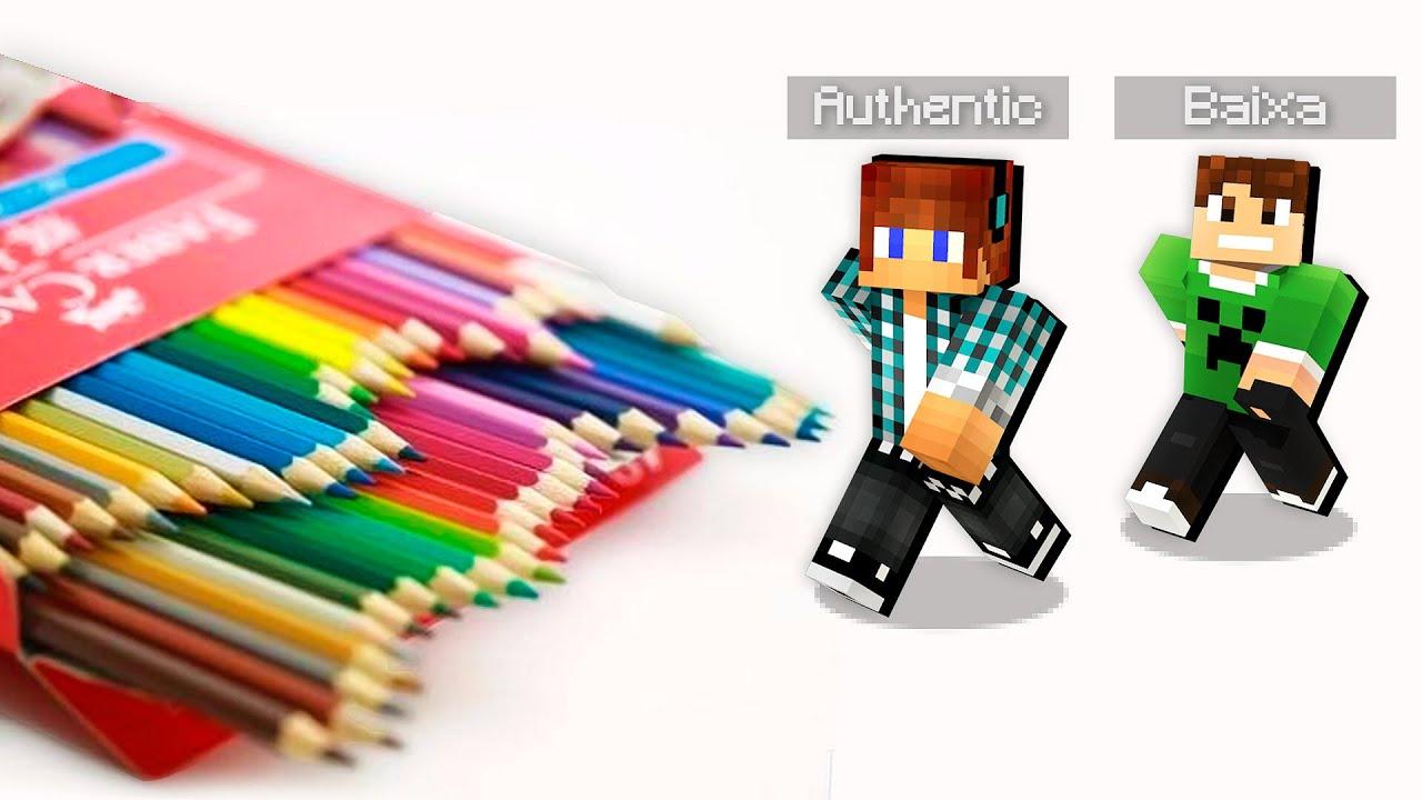 Entramos Dentro De Um Lapis De Colorir Minecraft Mod Youtube