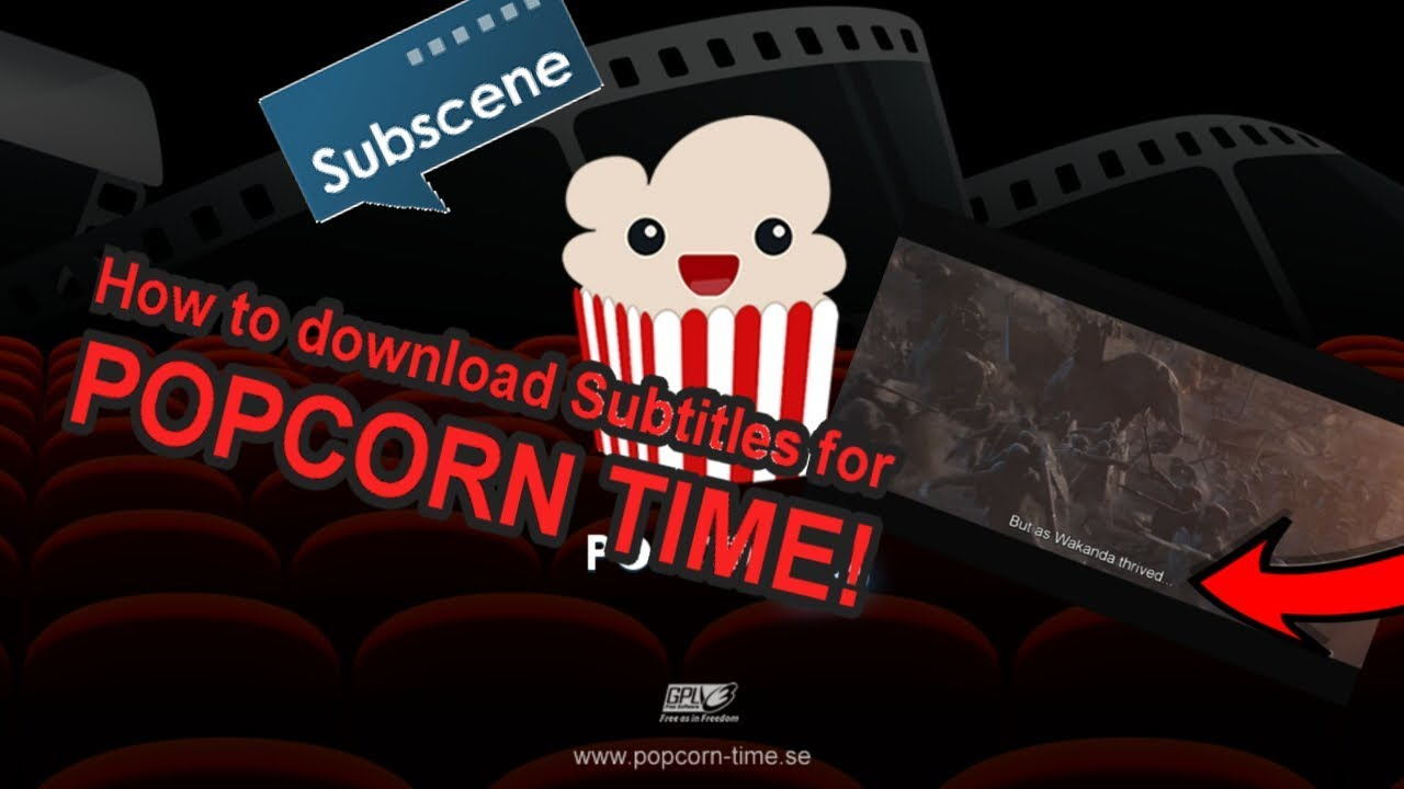 How to download subtitles for Popcorn Time!!