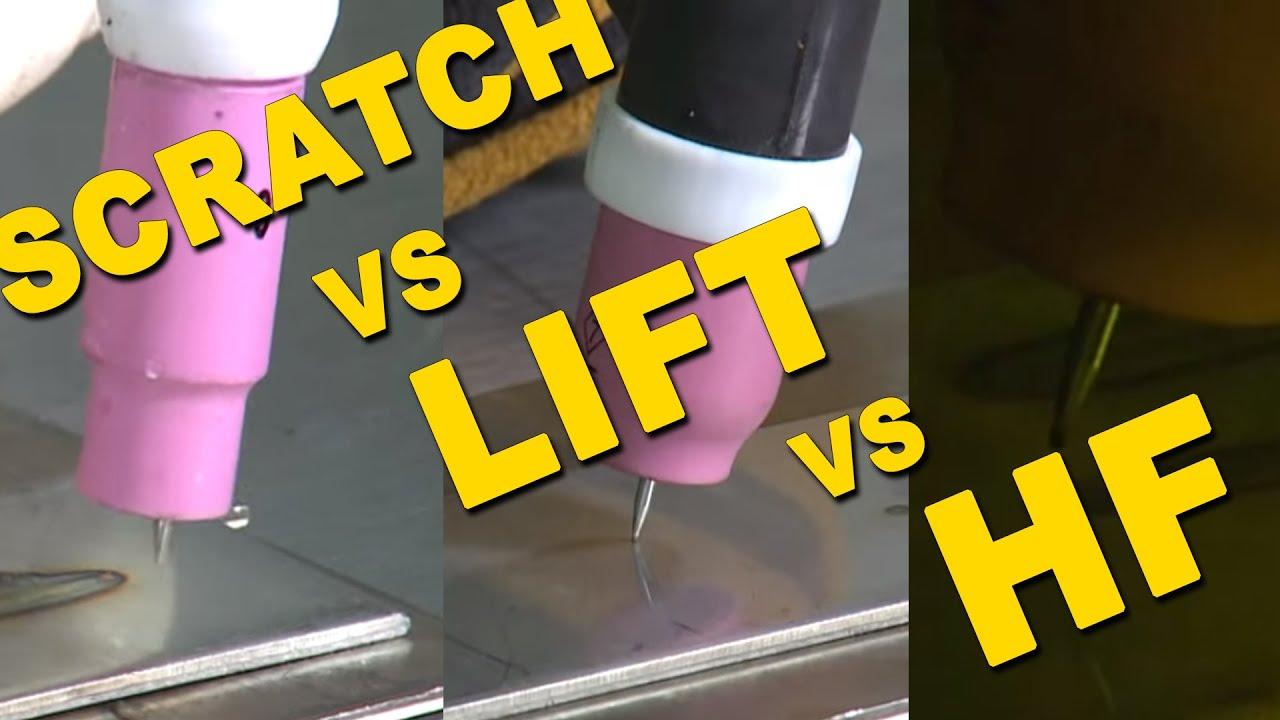 🔥 Scratch Start VS. Lift Start VS. High Frequency Start | TIG ...