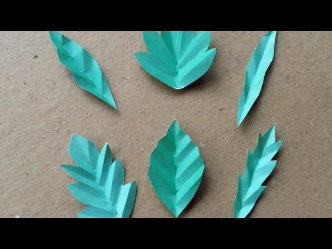 How To Make 6 Fun Paper Leaves - DIY DIY Tutorial - Guidecentral