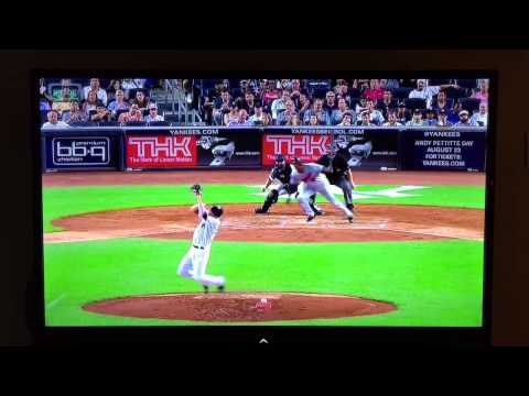 Yankees Bryan Mitchell Hit in the Face with Ball
