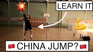 BADMINTON TECHNIQUE #56 - HOW TO DO CHINA JUMP? AND WHY?