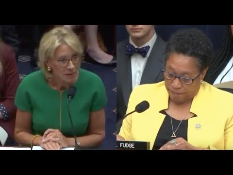 Congresswoman Stunned At Betsy Devos's Inability To Answer Basic Questions
