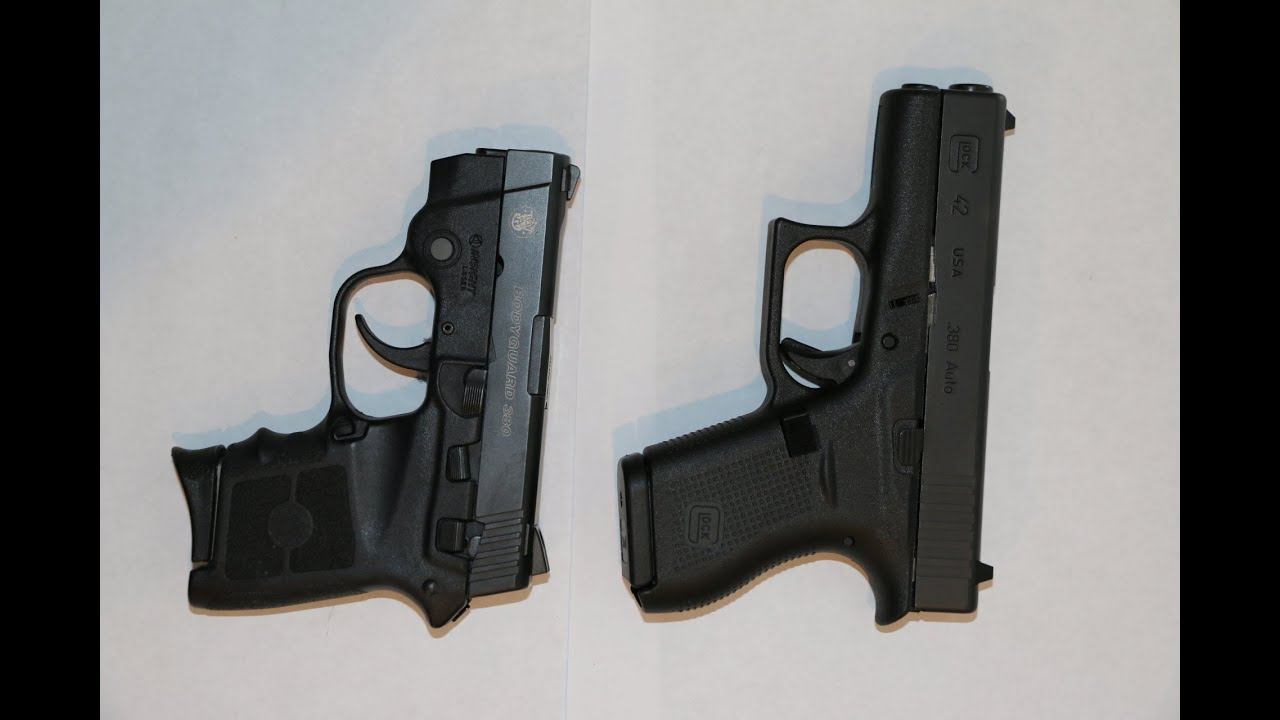 Glock 42  380 vs Smith & Wesson Bodyguard  380