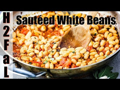 Side Dish | WHITE BEANS WITH GARLIC, SAGE & TOMATOES | How To Feed A Loon