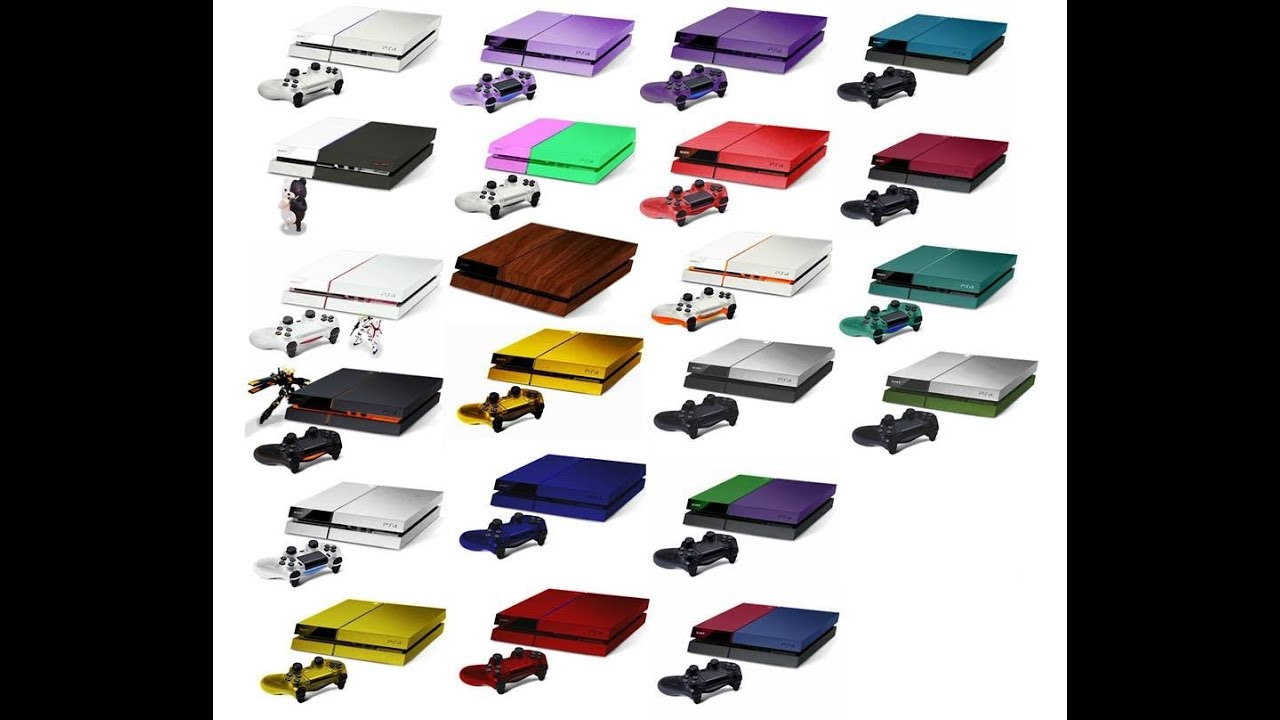 PS4 in 23 Different Colors - YouTube