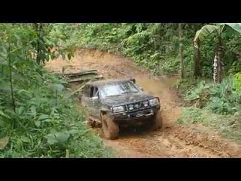Nissan Patrol 38 boggers Another muddy hill.mp4