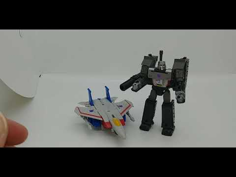 Chuck's Reviews Transformers Kingdom Core Class Megatron and Starscream