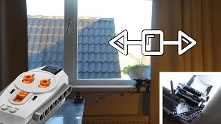 Remote controlled curtain with LEGO Technic