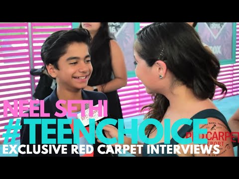 Neel Sethi #TheJungleBook interviewed at the 2016 Teen Choice Awards Teal Carpet #TeenChoice