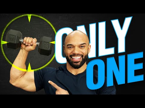 One Dumbbell Workout At Home: [CRAZY!] 1 Dumbbell Routine!