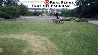 #7 - Yuneec's Typhoon H - RealSense Test mit Fahrrad - RealSense Flight Test with bicycle