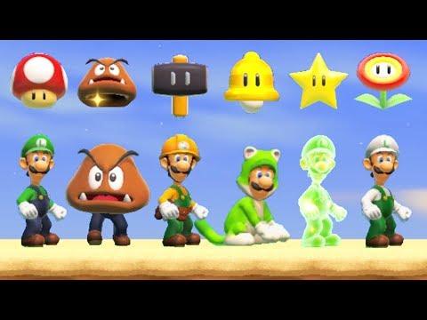 Super Mario Maker 2 - All Luigi Power-Ups