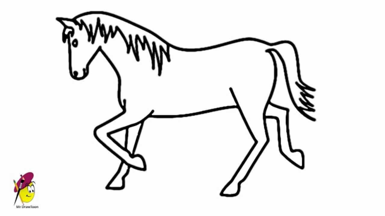 Horse Easy Drawing how to draw