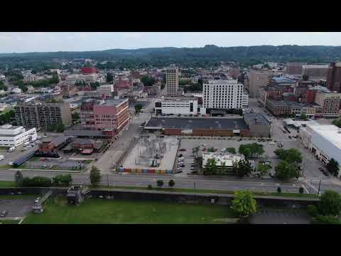 Aerial Downtown Huntington West Virginia Via Mavic 2 Zoom Drone