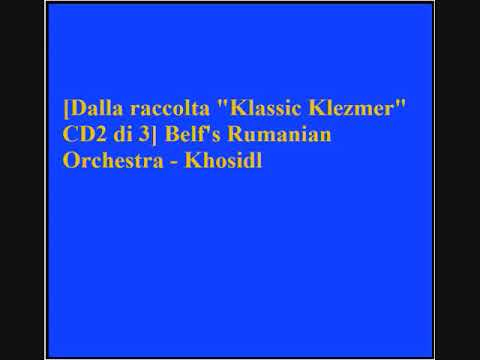 Download Belf's Rumanian Orchestra - Khosidl