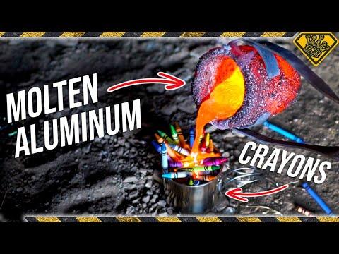 Can a CRAYON Dye Molten Metal?