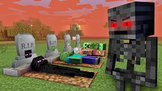 MONSTER SCHOOL : WITHER BECAME VILLAIN - RIP ENDERMAN, ZOMBIE - Sad Minecraft Animation